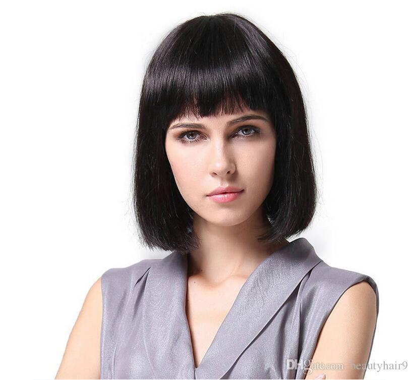 Top Sell Simulation Braizilian Human Hair Short Bob Cut Style With