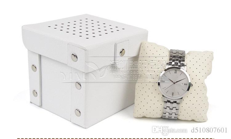 2017 Boîte de montre de luxe boîte de montre de luxe avec oreiller boîtier de colis montre Boîte de cadeau de stockage de bijoux Livraison gratuite