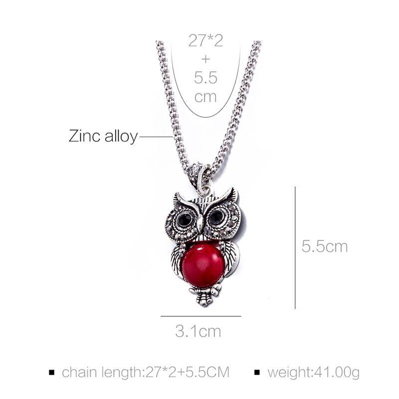 2017 nova 3 cores declaração de moda jóias mulheres coruja conjuntos de jóias colar brincos pulseira acessórios do partido