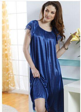 02c66dd50d 2019 Wholesale Night Shirt Sexy Brace Female Imtated Silk Lace Night Pajama  Female Nighty Gown Robes Sexy Sleeping Dress From Douban