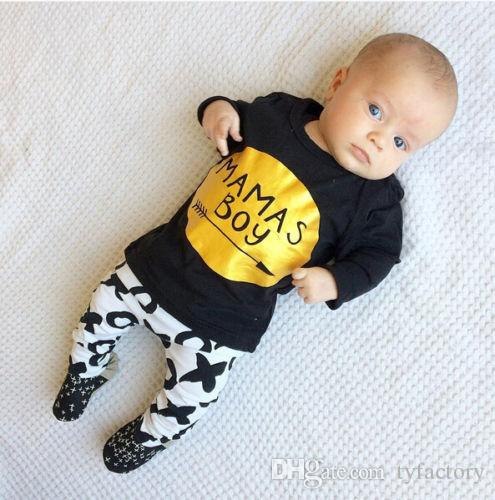 hot selling boys suits Kids Toddler Boy long sleeve blcak tshirt+pants children Clothes Set T-shirt Tops trousers Leggings top Outfits