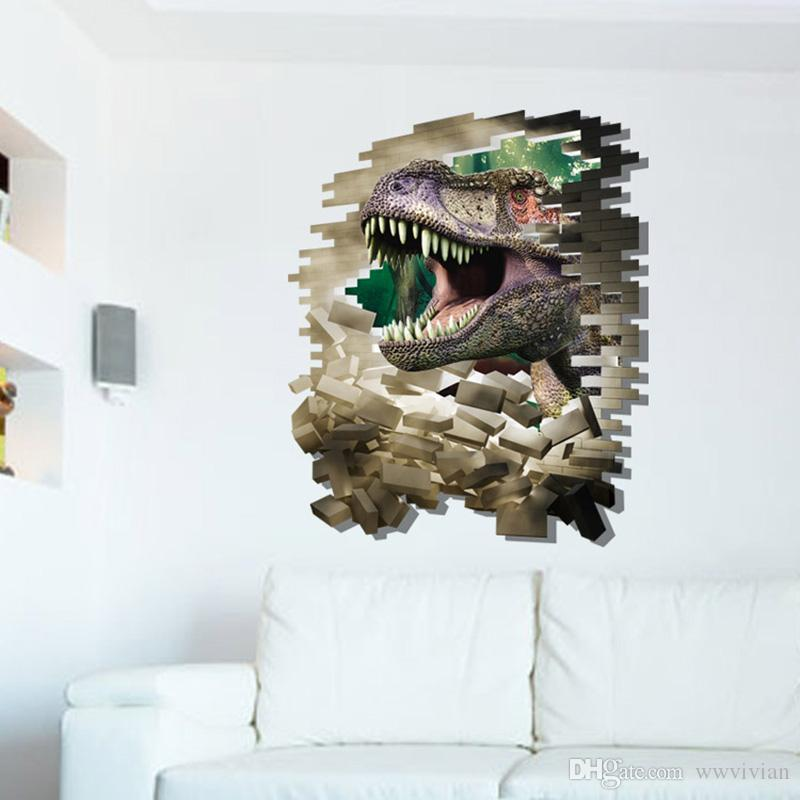 Creative D Stereo Dinosaur Wall Stickers Kids Room Nursery Wall - 3d dinosaur wall decalsdinosaur wall decals for kids rooms to wall decals dinosaur