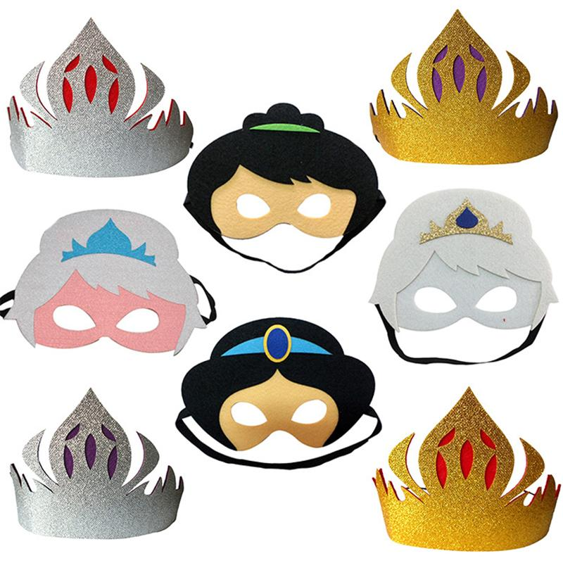 halloween fashion mask cartoon mask nontoxic snow white snow queen masquerade kids boy girl prop costume cosplay makeup party mask 8 styles masquerade - Kids Halloween Masks