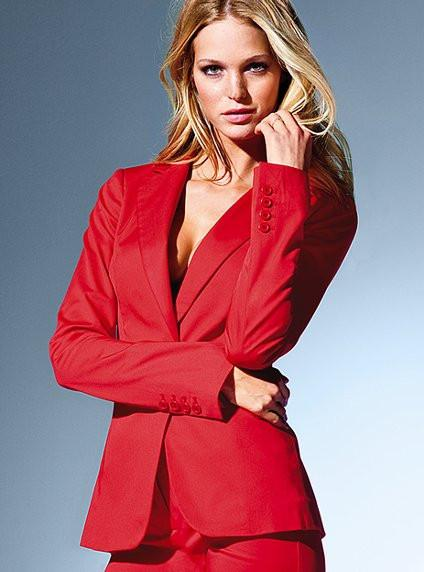 Women Business Suits Formal Office Suits Custom Made Red Office Lady Long Sleeve Women Tops Suits Women's Clothing