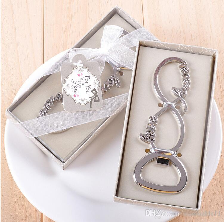Любовь Открывалка Для Бутылок В Коробке Свадебные Сувениры Подарки Поставляет Сувениры Для Гостей Для Вас Любовное Письмо