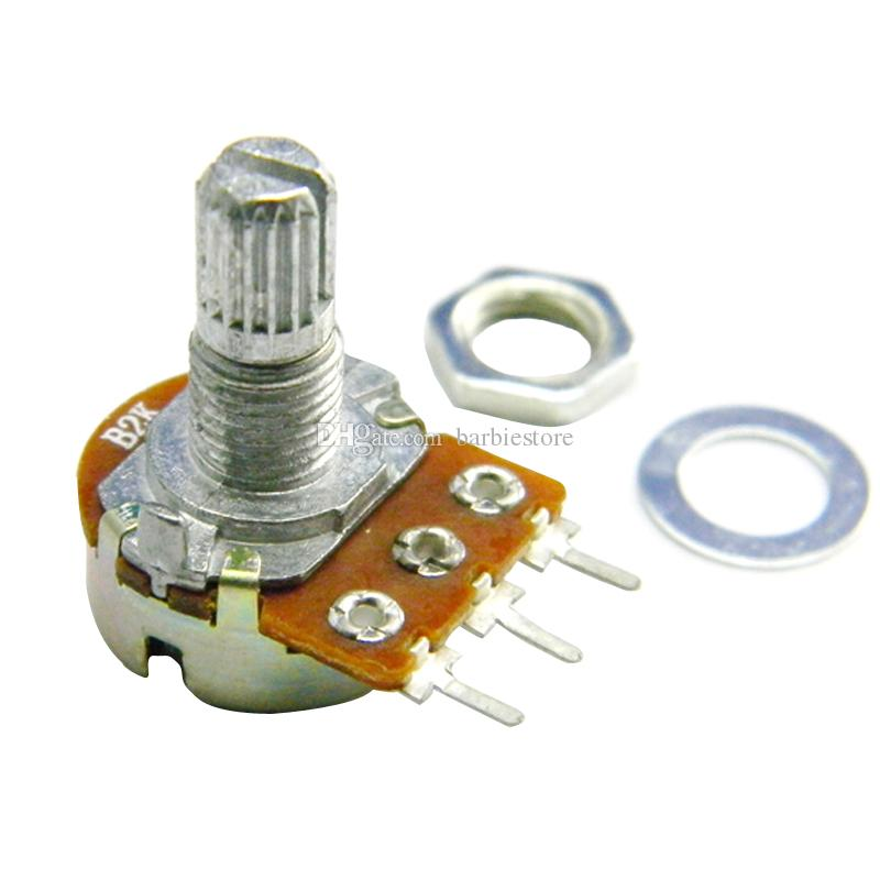 WH148 Type B100K Ohm Linear Taper Rotary Potentiometer Panel Pot 3 Pin B00036 BARD