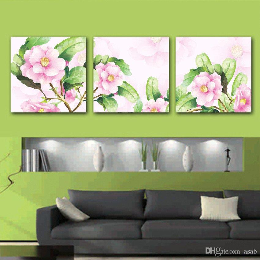 unframed art picture on Canvas Prints Cartoon flower wild flower Lotus leaf orchid chinese characters leaf peony