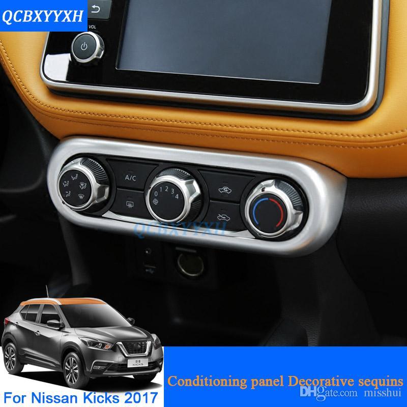 QCBXYYXH ABS 자동차 스타일 닛산 차기 2017에 대 한 조건부 패널 장식 스팽산 센터 콘솔 스티커 자동 인테리어 프레임