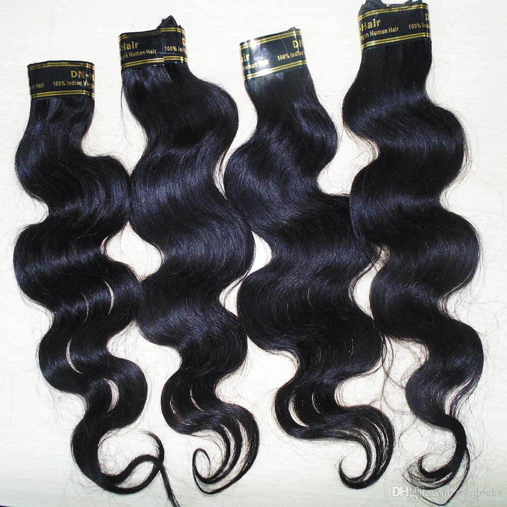 Grade 7A 100% processed Peruvian human hair natural color body wave hair bundles fast free shippng cheapest price
