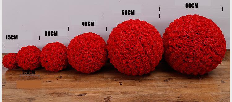 16 색 인공 꽃 장미 공 키스 공 꽃 웨딩 가든 시장 파티 장식 크리스마스 선물 HH7-167