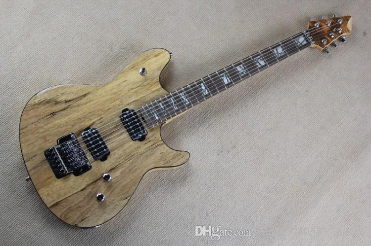 maple wood color original wood color electric guitar with floyd rose and maple neck