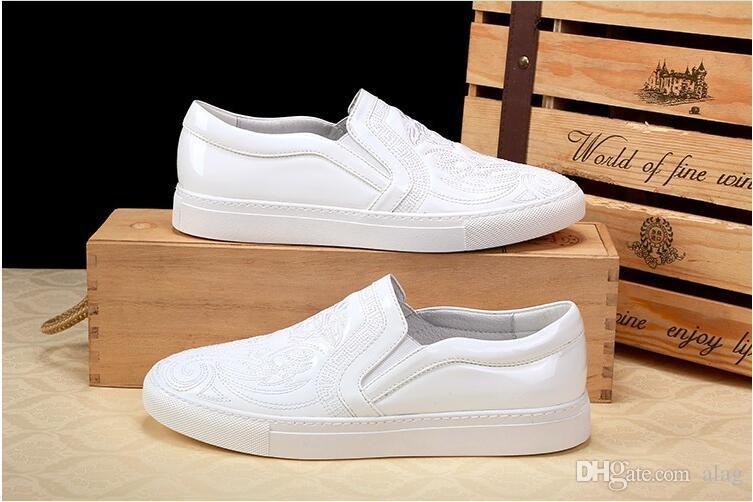 2019 NEW arrival Men Top Brand Designer Glitter golden Shoes Men's Dress Shoes Sequined Loafers Men's flats platform loafers PX80
