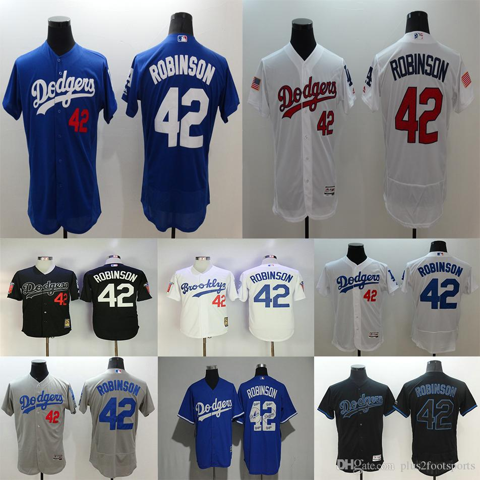 ... 2017 Los Angeles Dodgers 42 Jackie Robinson Jersey Black White  Collection 1955 Hall Of Fame Dual ... 9a6463ee10e