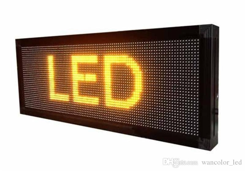 무료 배송 p10 야외 LED 스크롤 디스플레이 노란색 컬러 p10 디스플레이 모듈 + 전원 공급 장치 + wifi / usb 컨트롤러