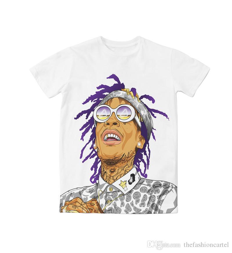 aff88561914 Real USA Size Wiz Khalifa Custom Made 3D Sublimation Print T Shirt Plus  Size T Sh Fashion Shirt From Thefashioncartel