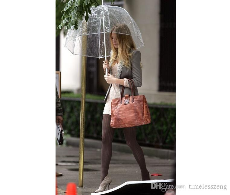 Sencilla y elegante burbuja profundo Cúpula paraguas transparente Apolo burbuja Envío libre Paraguas muchacha seta Paraguas Claro