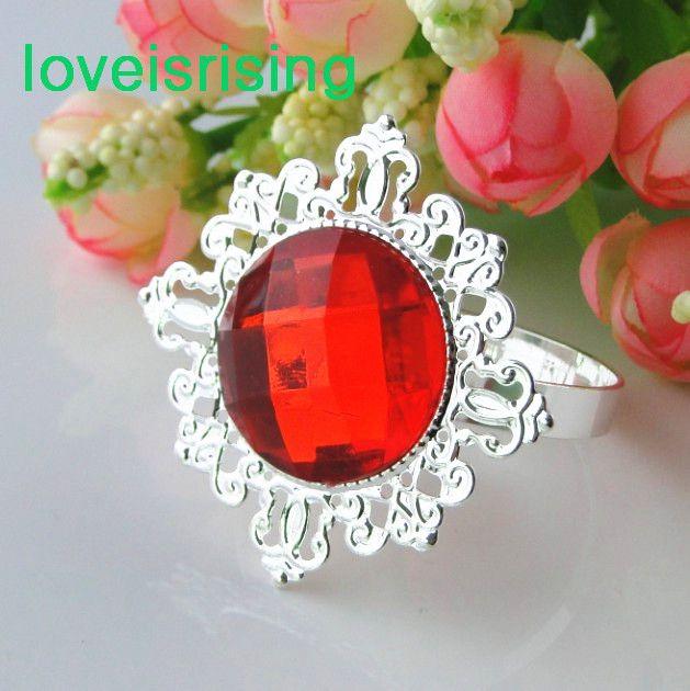 도매-U 선택을위한 20 색-클리어 화이트 보석 다이아몬드 냅킨 링 냅킨 홀더 웨딩 저녁 식사 신부 샤워 호의 장식
