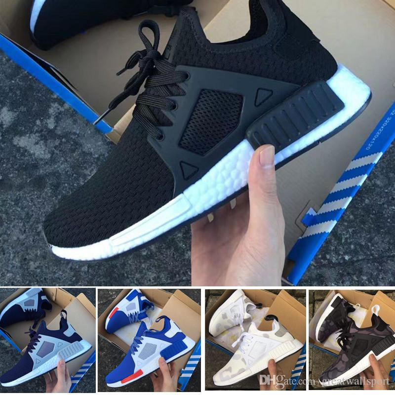 2017 NMD XR1 III Running Shoes Mastermind Japan Skull Fall Olive green Glitch Black White Blue Camo Pack men womens sports shoes 36-45