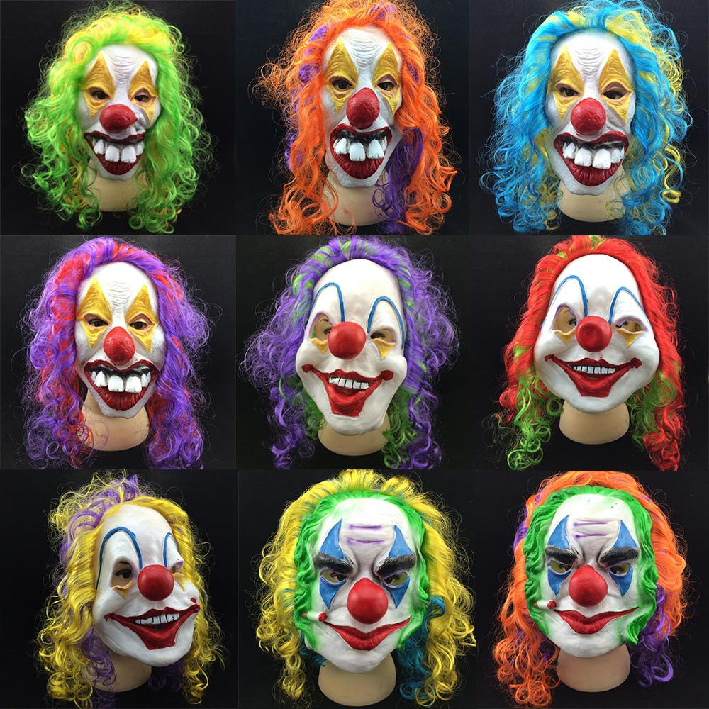 Scary Clown Mask Adult Halloween Evil Killer Fancy Dress Horror ...