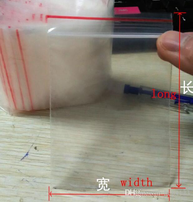 100 ADET / vana çanta şeffaf çanta Mühür gıda sızdırmazlık cep çanta hediye paketleme elektronik kırtasiye mühür çantası