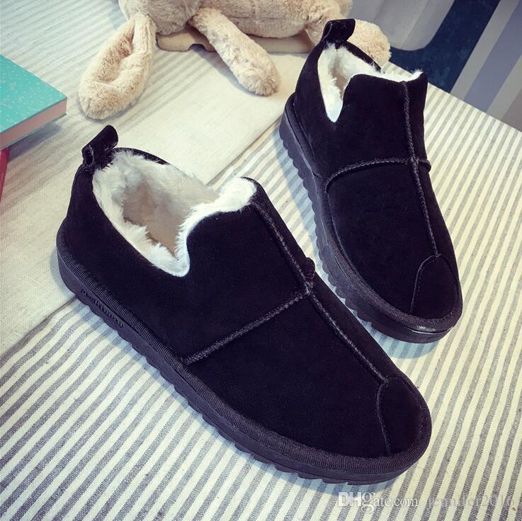 Günstige neue Mode Pelz weibliche warme Stiefeletten Frauen Stiefel Schnee Stiefel Herbst Winter Frauen Schuhe EUR Größe: 35-40