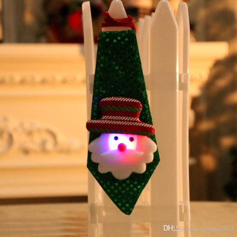Cadeau de Noël pour adultes et enfants Livraison gratuite Décorations de Noël enfants adultes petit cadeau créatif petit cadeau cravate lumineuse