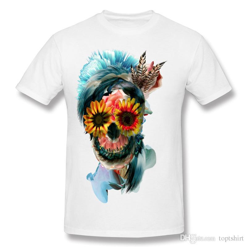 Skull Women Costume T Shirt Custom Mens Design Own T Shirt Teenage Crewneck  Printed Clothing T Shirt Comfort Crewneck Cool T Shirts Order T Shirts  Quality T ... aae73c170