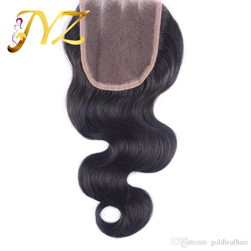 Wholesale cheap Unprocessed Brazilian Virgin Human Hair Weaves Body wave 4*4 peruvian malaysian indian haLace Closure Bleached Remy Hair
