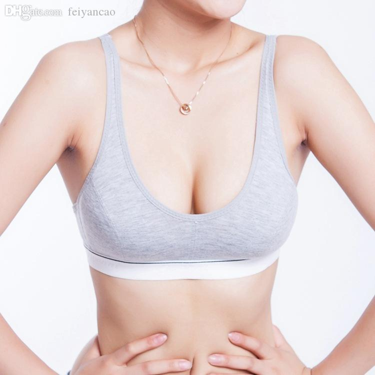 114f64ae0b 2019 Wholesale 100% Cotton Women Bust Push Up Sports Bra Tank Underwear Bra  Size 32 34 36 38 From Feiyancao