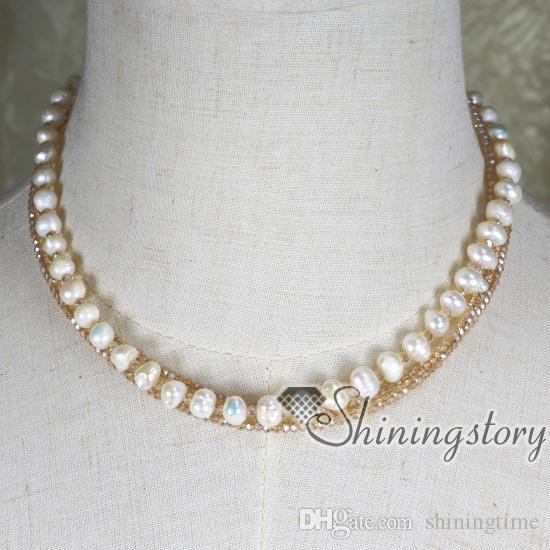 cultured pearl necklace cheap pearl necklace freshwater pearl jewellery pearl bridal jewelry bridesmaid jewelry