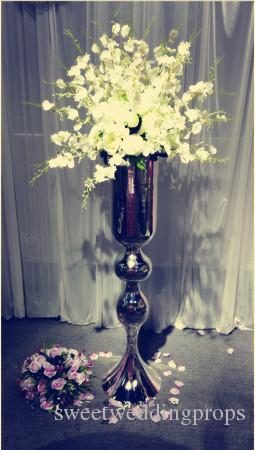 Suporte de flor alto da forma do grânulo / suporte do metal trombeta para o arranjo de flor