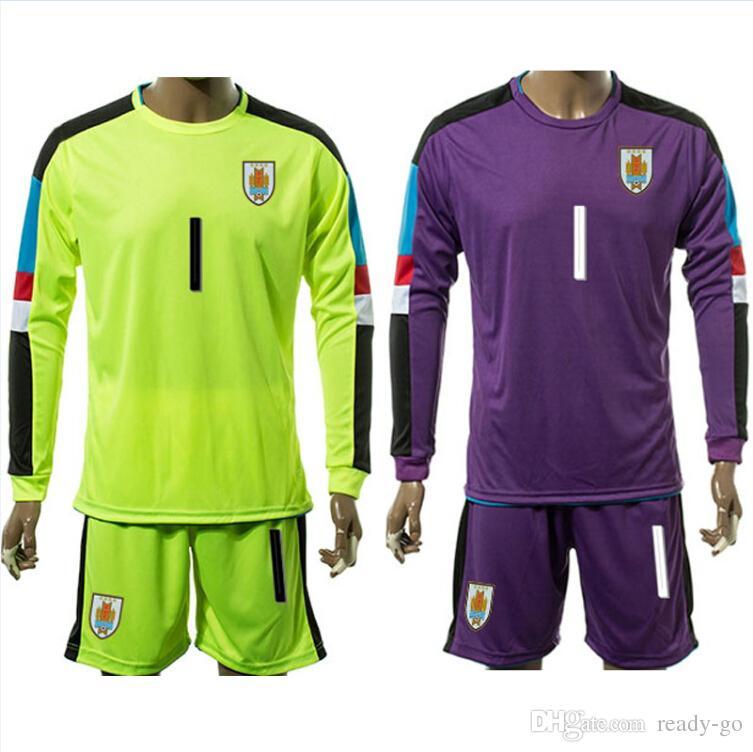 adb3f1f5a ... 2016 Uruguay Soccer Jerseys Long Sleeve Shirts Sets Suarez Cavani  Hernandez Stuani 16 17 Goalkeeper Football . ...