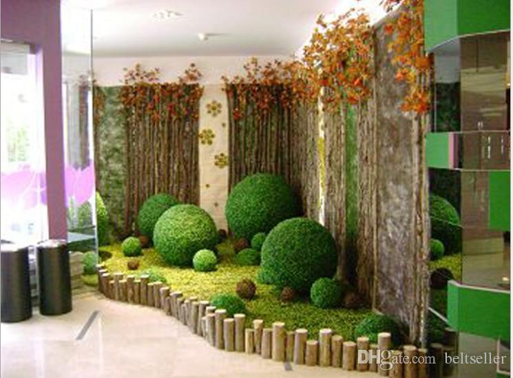 Neue Ankunfts-KUNSTSTOFF-Silk Gewebe Green Grass Pflanze Kissing Kugel für Garten Inneneinrichtungen Hochzeit Weihnachten Bar-Partei-Dekoration