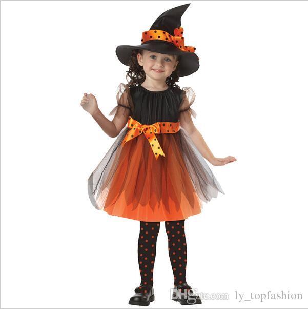 Acquista Festival Coaplay 2 15 Anni Bambini Halloween Costume Strega  Bambini Enfant Abito Fisso Ragazze Cappello Bambina Mascherata A  21.67 Dal  ... 053483b9cf82