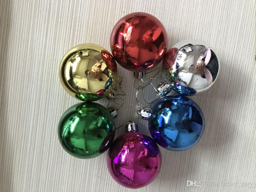 Christmas Tree Xmas Balls Ornaments Shatterproof Balls Xmas Trees Wedding Parties Mini Tree Decorations For Baubles Party Wedding