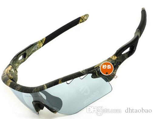 Brand summer men Bicycle Glass polarized camouflage glasses outdoor cycling sport sunglasses with case 5 groups of lenses