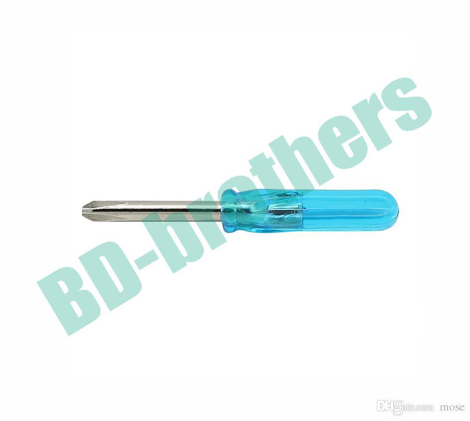 De Buena Calidad Mini destornillador azul de 45 mm 3.0 mm Phillips / 3.0 tipo plano destornillador plano destornillador llave /