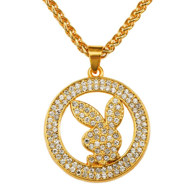 Wholesale New Arrival Hip Hop Gold Pendant Necklace Fashion Jewelry