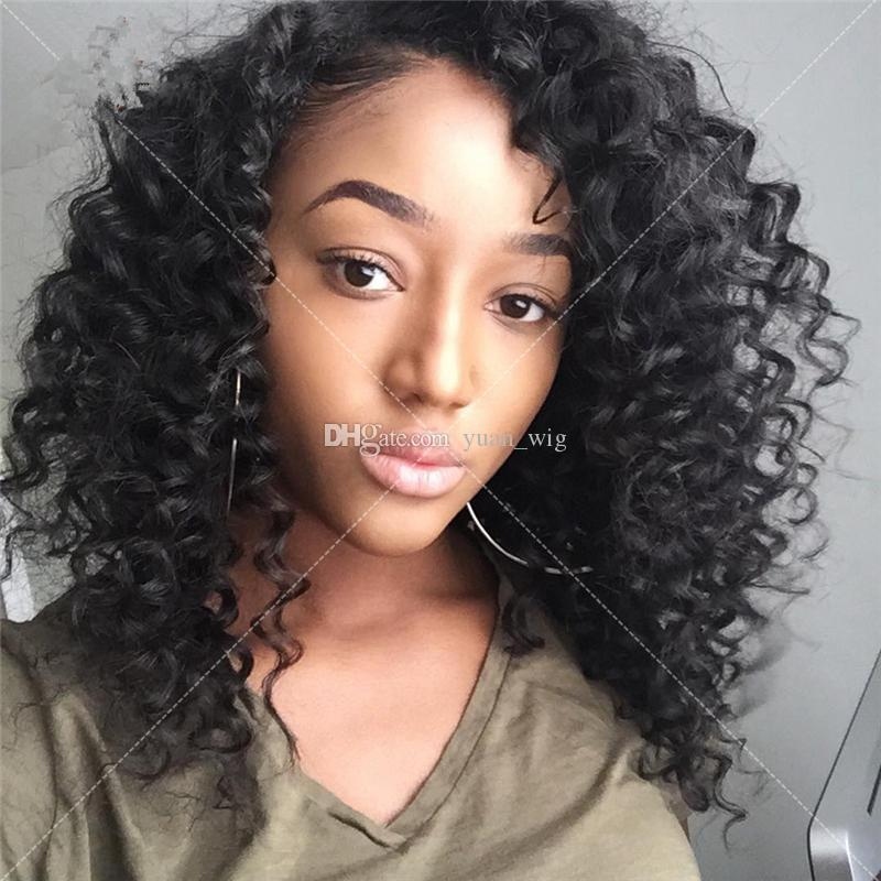 7A Malaysian Virgin Hair Glueless Full Lace Human Hair Wig Virgin Hair Lace Front Wigs Deep Curly For Black Women