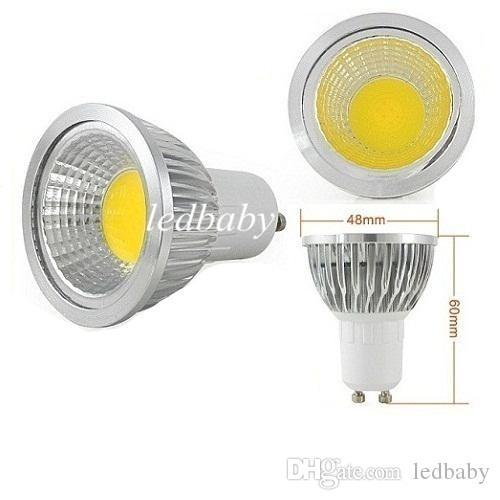 كري e14 gu10 mr16 e27 cob led لمبة ضوء عكس الضوء 9 واط 12 واط 15 واط أدى بقعة المصابيح أسفل الأضواء مصباح ac 110-240 فولت 12 فولت