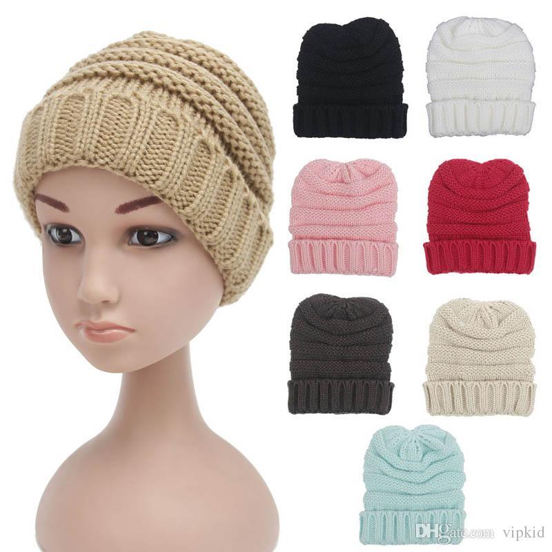 870d4468f92 Kids New Winter Warm Ear Wool Knitted Hat Outdoor Set Cap Trendy ...