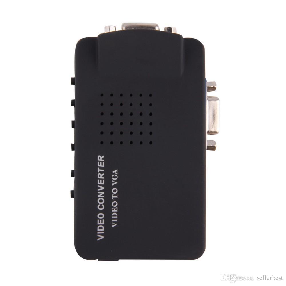 Портативных ПК композитный видео ТВ RCA в BNC композитный s-видео AV в/CVBS в ЖК ПК, выход VGA конвертер адаптер переключатель Оптовая