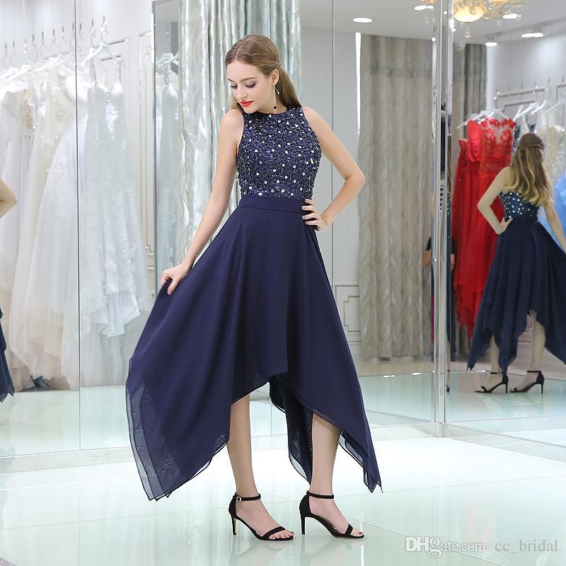 Vestidos largos elegantes color azul