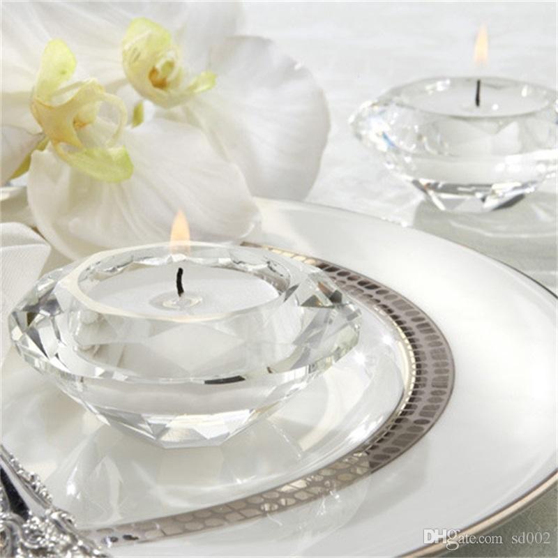 Grosshandel Wohnkultur Glas Kerzenhalter Hochzeit Dekoration Candle