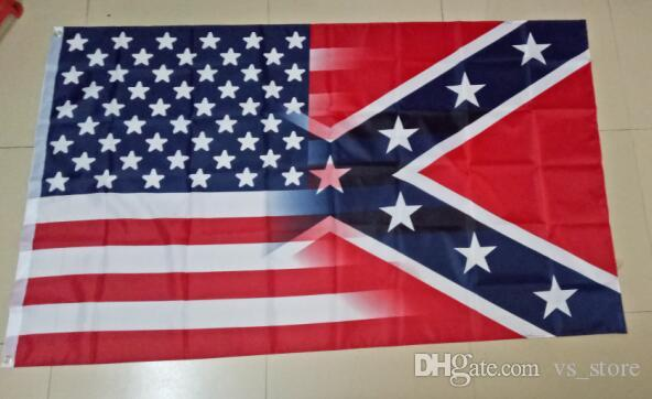 90x150cm American Flag with Confederate Rebel Civil War Flag new style hot sell 3x5 DHL free
