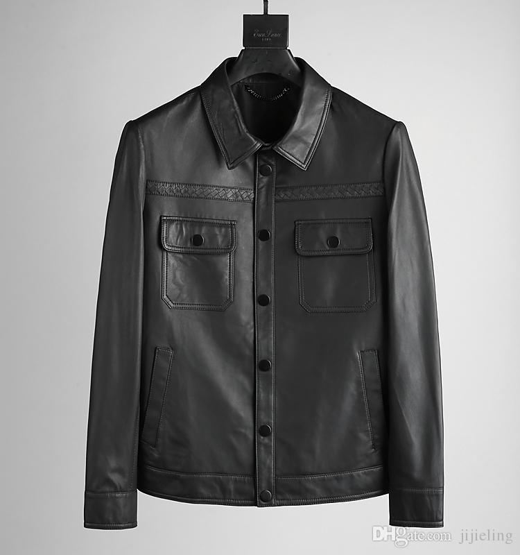 New Mens Luxury Designer Leather Jacket ~delicate Scrub Winter ...