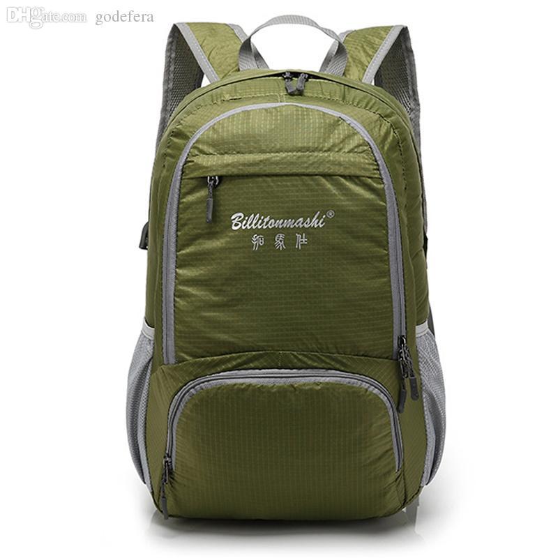 f92547dc6be6f Wholesale-Best Selling Unisex Folding Nylon Backpacks Men s Hiking ...