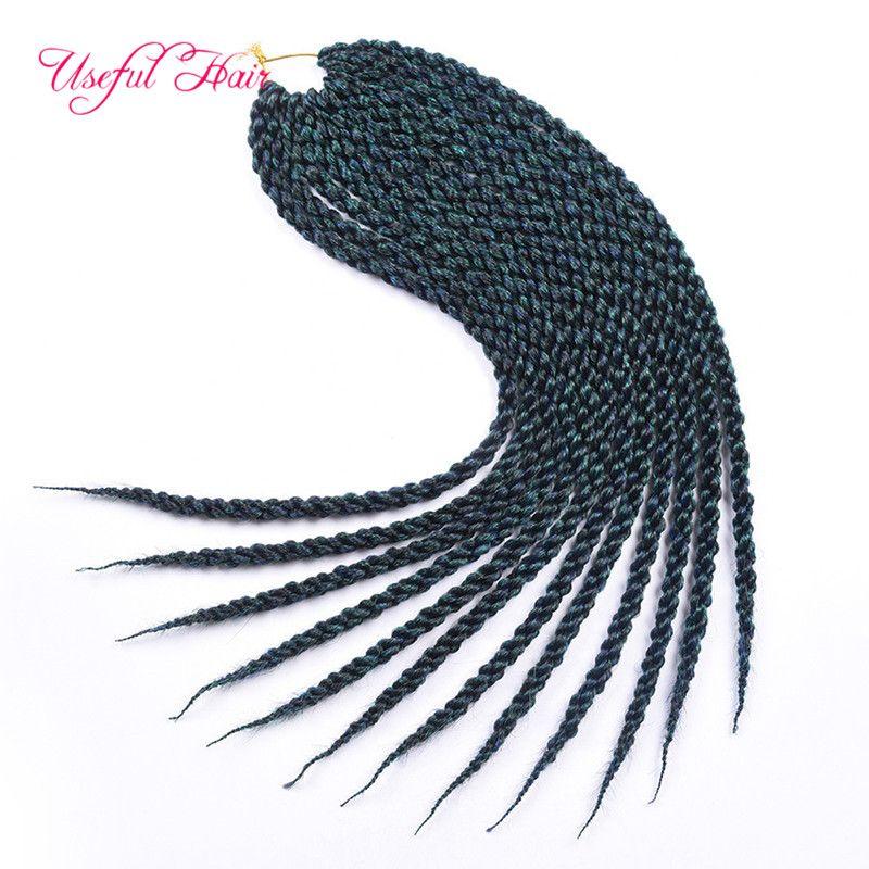 3D havana mambo twist Cubic Twist Crochet Braids Hair Extensions Ombre synthetic braiding hair Crochet Hair Twist Box braided in bundles