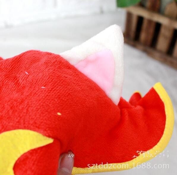 Halloween LOL Hüte League of Legends Fee Hexe Lulu Cosplay Hut Plüsch Cap Red Cosplay Hut Leistung Requisiten Zubehör für Kinder Boy Geschenk