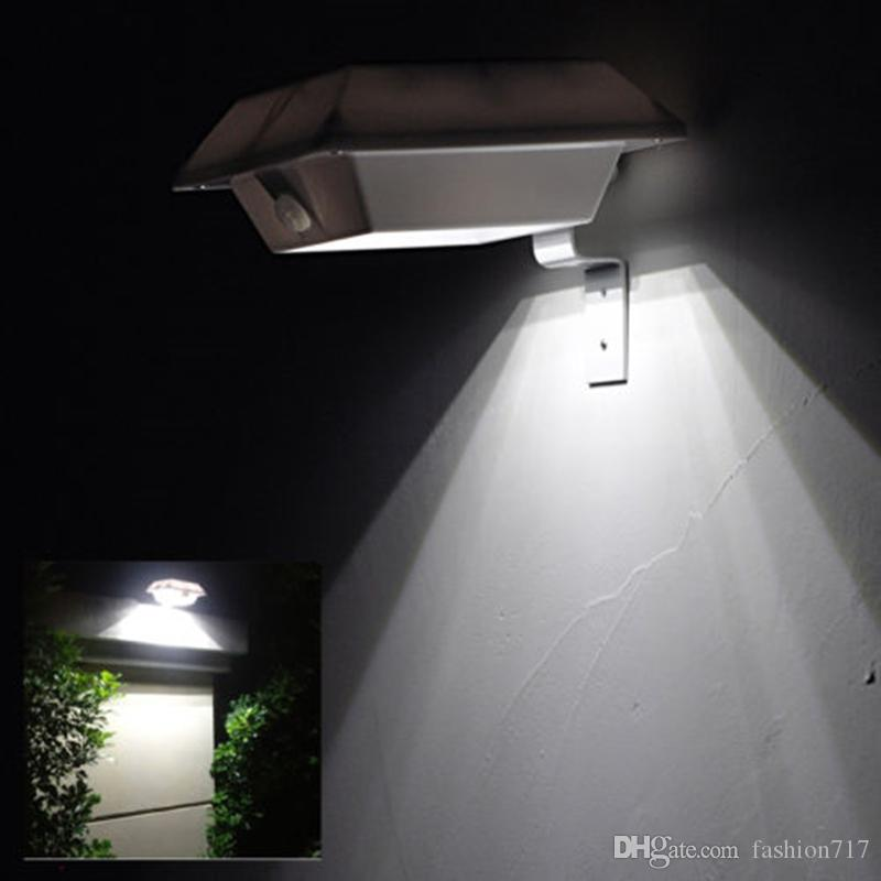 Solar Lights Roof: 2019 4 LED Square Solar Lamp PIR Sensor Motion Roof Gutter